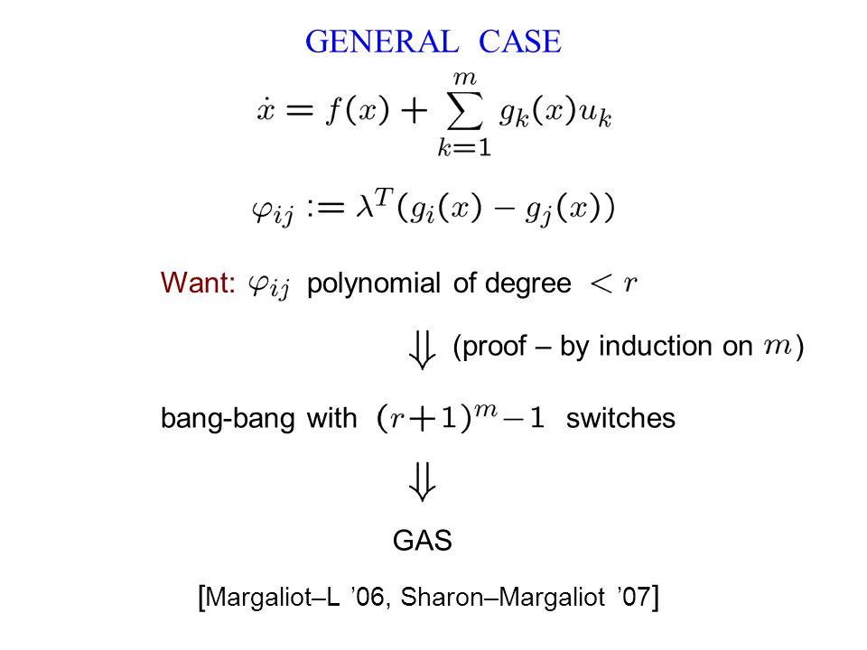 GENERAL CASE [Margaliot–L '06, Sharon–Margaliot '07]